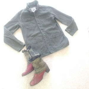 """ACTIVE RIDE SHOP/ """"FIGGY""""OLIVE GREEN CARGO JACKET"""